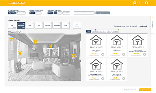 Slider Referenzen von doubleSlash, Smart Home Konfigurator, User Experience